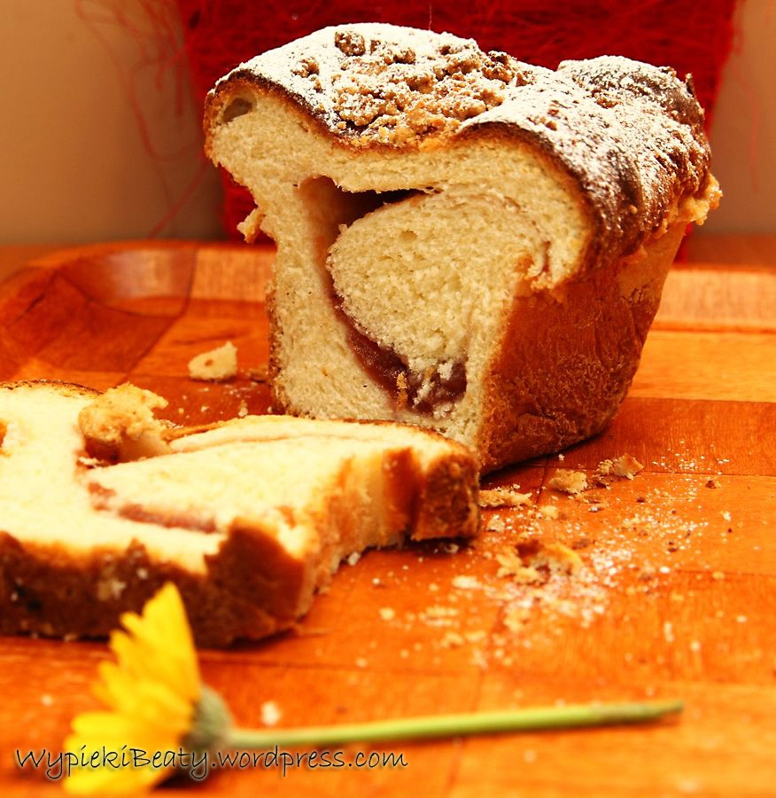 ciasto drożdżowe z dżemem