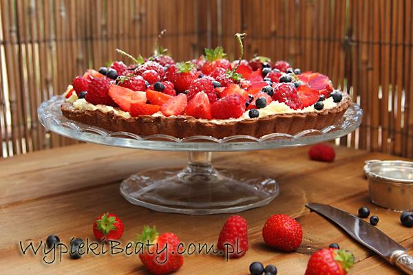 tarta czekoladowa z owocami2