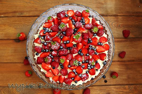 tarta czekoladowa z owocami3