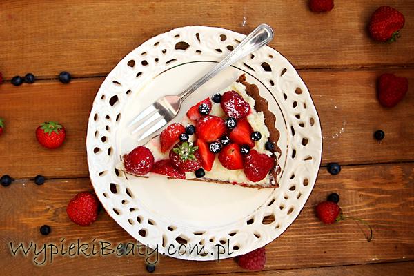 tarta czekoladowa z owocami6