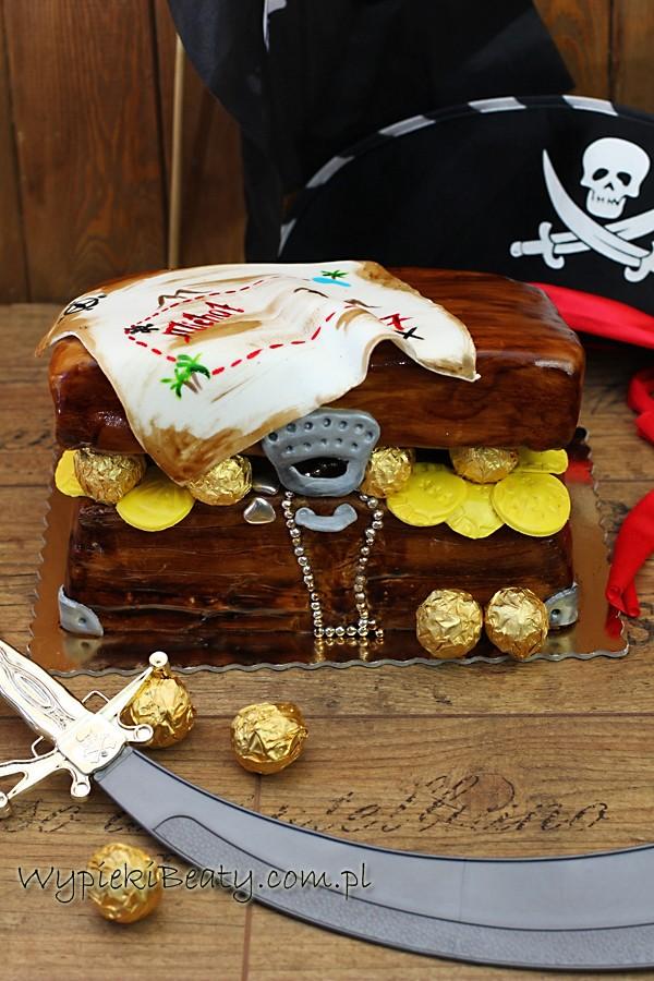 treasure chest cake tort piracka skrzynia skarbów