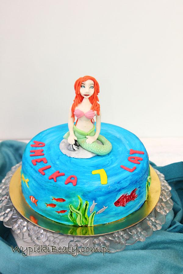 tort mała syrenka na urodziny