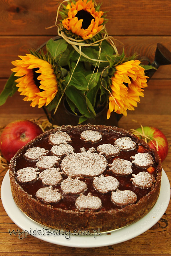 czekoladowa szarlotka chocolate apple pie