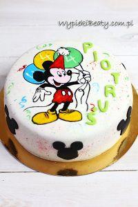 tort z myszką mickey