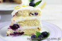tort cytrynowy z borówkami