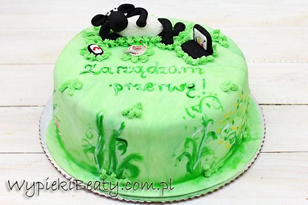 tort z barankiem figurka baranek