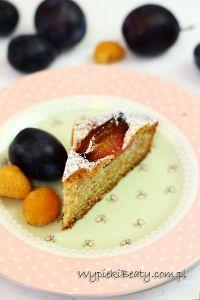 ciasto ze śliwkami i kardamonem