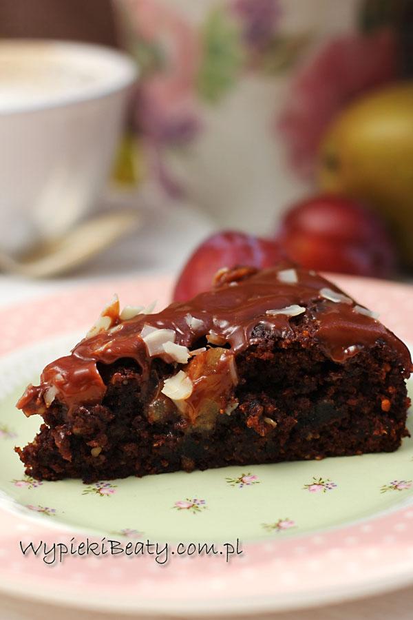 ciasto czekoladowe śliwkowo-gruszkowe2