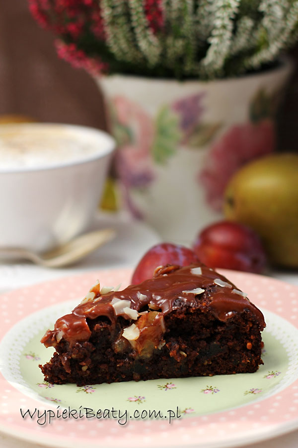 ciasto czekoladowe śliwkowo-gruszkowe4