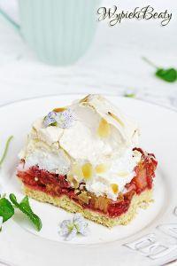 ciasto z rabarbarem i bezą_4