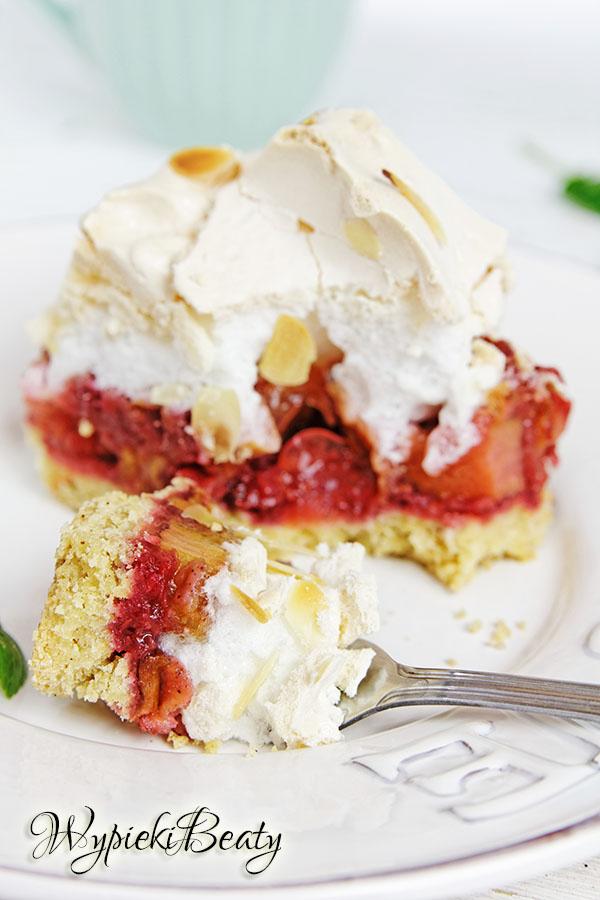 ciasto z rabarbarem i bezą_5
