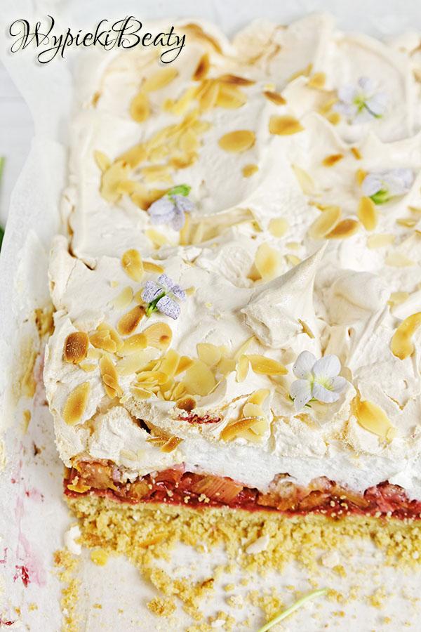 ciasto z rabarbarem i bezą_8