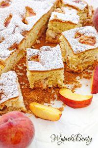 puszyste ciasto z brzoskwiniami_1