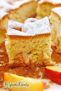puszyste ciasto z brzoskwiniami_2