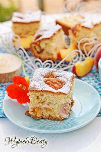 puszyste ciasto z brzoskwiniami_5