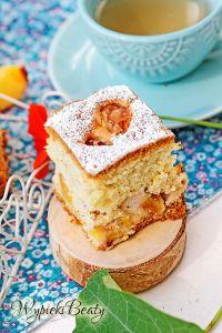 puszyste ciasto z brzoskwiniami_6