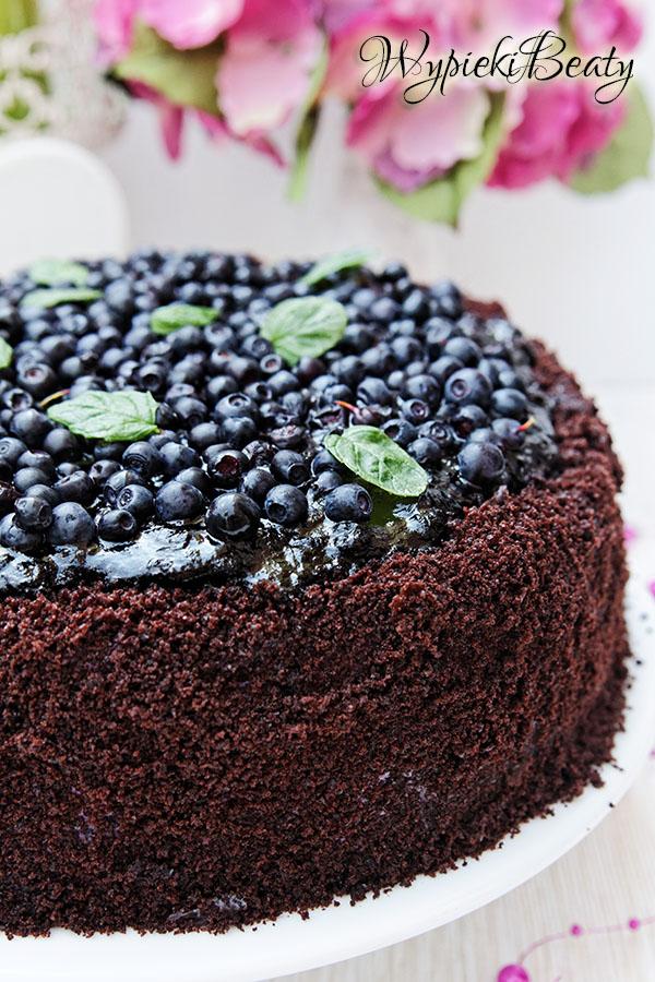 tort czekoladowy z jagodami_3