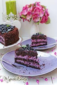 tort czekoladowy z jagodami_6