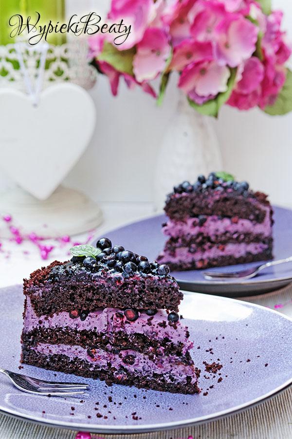 tort czekoladowy z jagodami_7