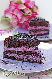 tort czekoladowy z jagodami_8