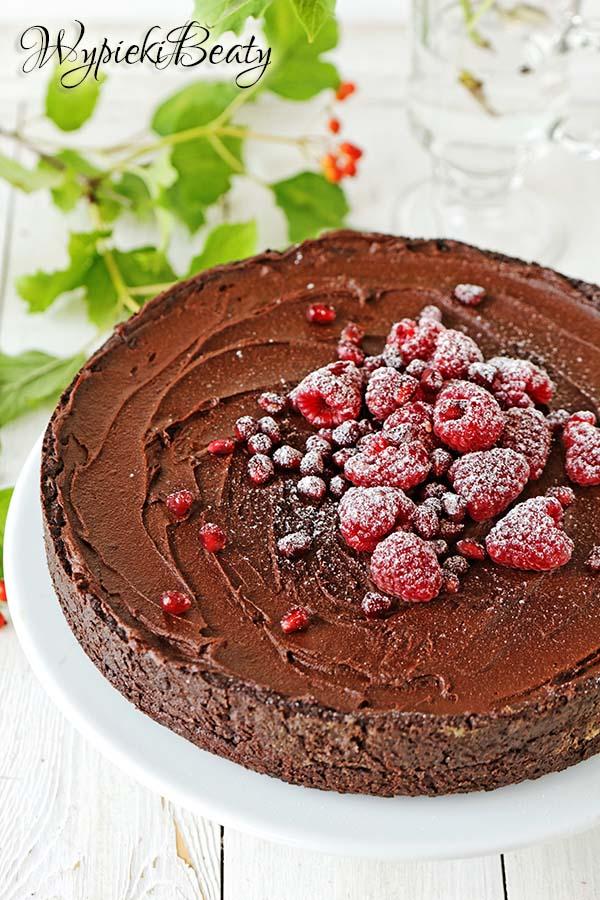 tarta czekoladowa z malinami_4
