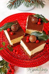 cheesecake on chocolate bottom