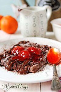 gofry z czekoladą