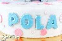 tort urodzinowy na masie cukrowej