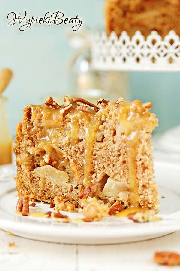 ciasto z jabłkami i toffee 4