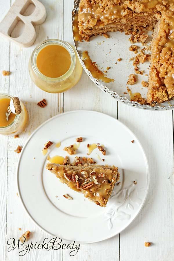 ciasto z jabłkami i toffee 7