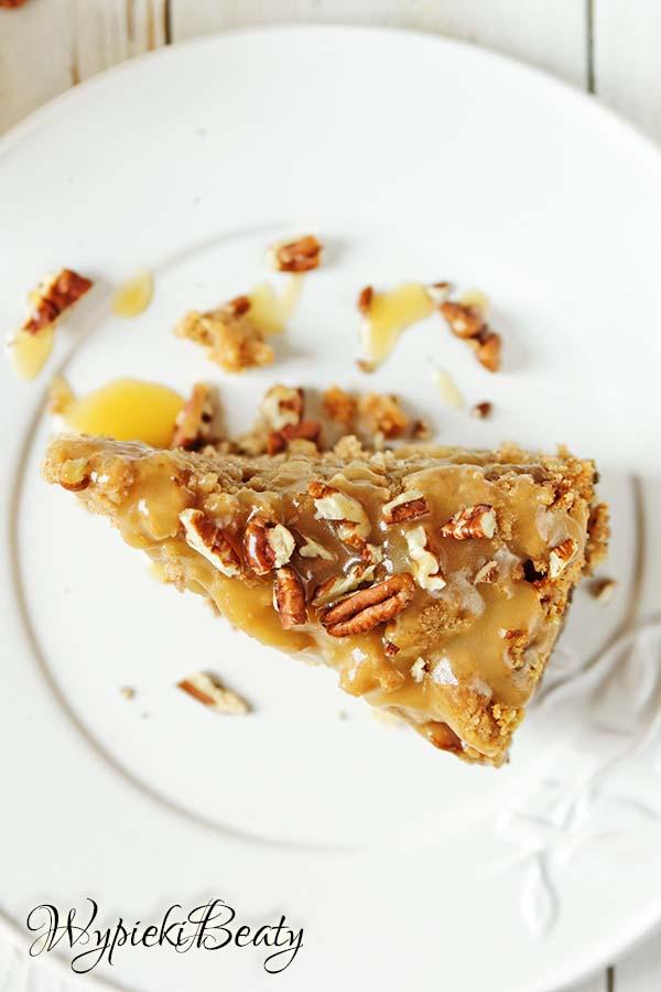 ciasto z jabłkami i toffee 8