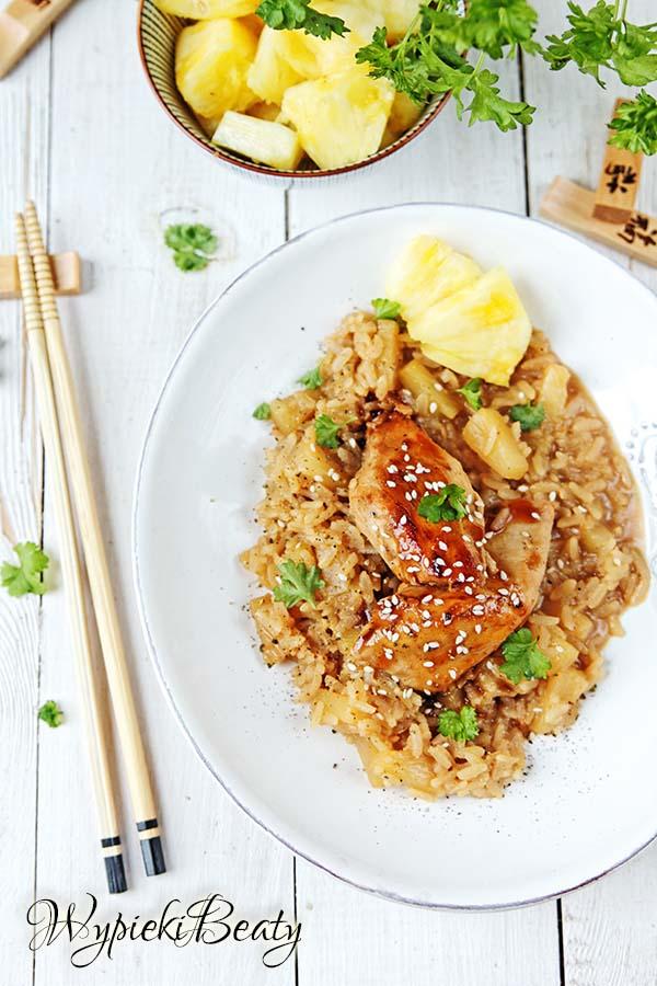 kurczak z ananasowym ryżem 4