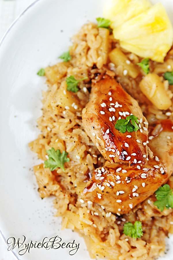 kurczak z ananasowym ryżem 5