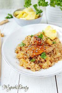 kurczak teriayki z ryżem
