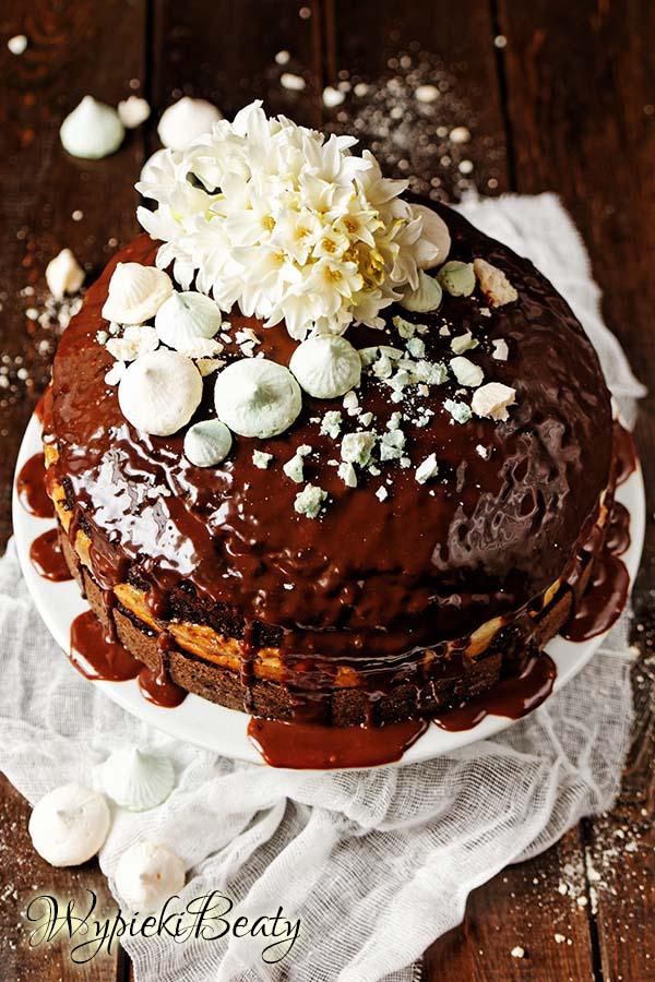 torcik czekoladowy z sernikiem 1