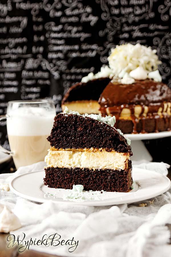 torcik czekoladowy z sernikiem 5