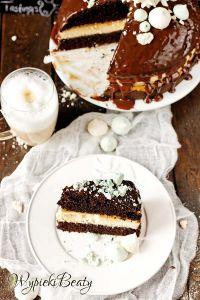 tort czekoladowy z twarogiem