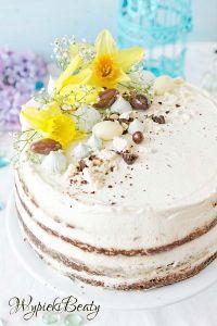 tort z kremem twarogowym