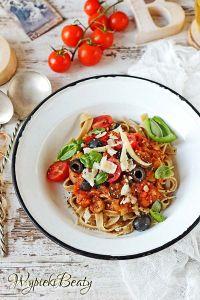 pasta z pieczonymi pomidorami