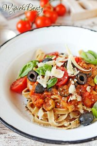 baked tomatoes pasta