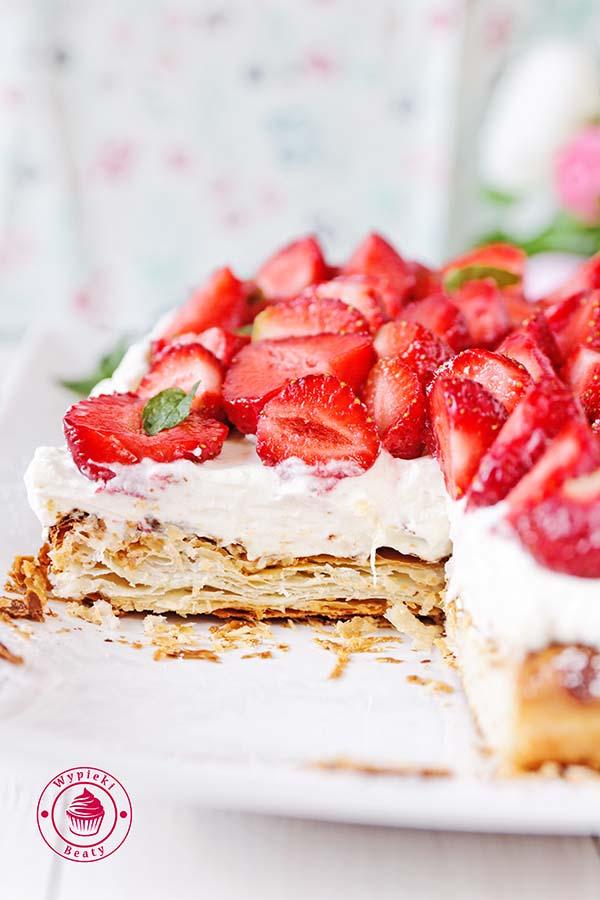 ciasto francuskie z truskawkami 5