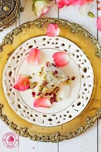 almond and rose water cake