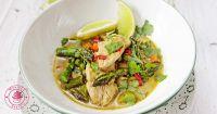 zielone curry ze szparagami facebook