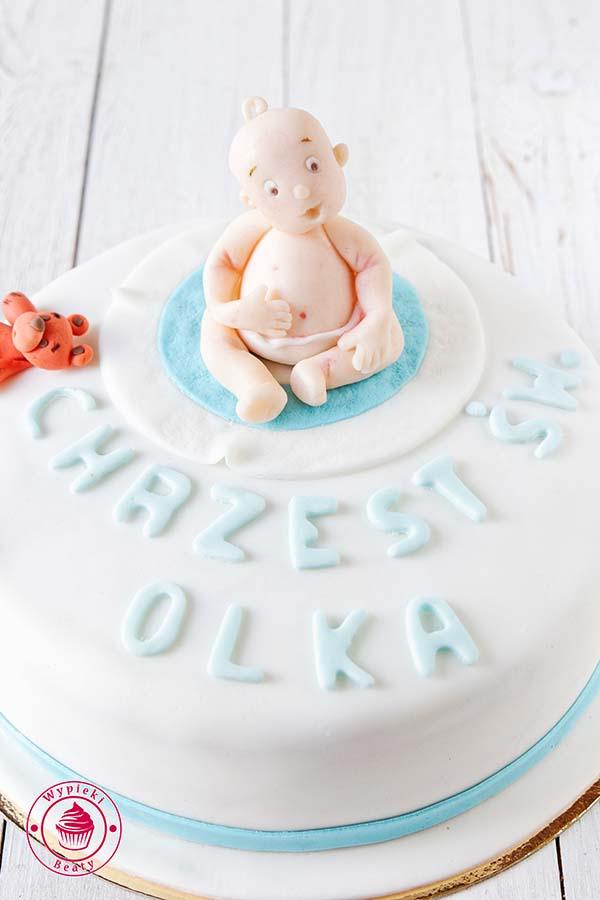 tort na chrzest olka 7