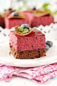 blueberry mousse brownie