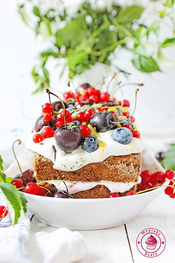 ciasto z malinami i kremem 3