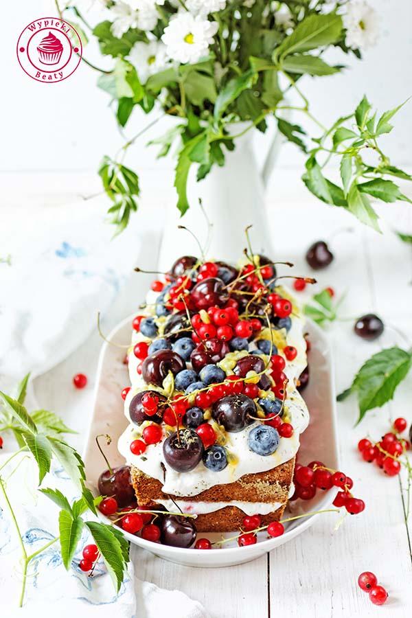 ciasto z malinami i kremem 6