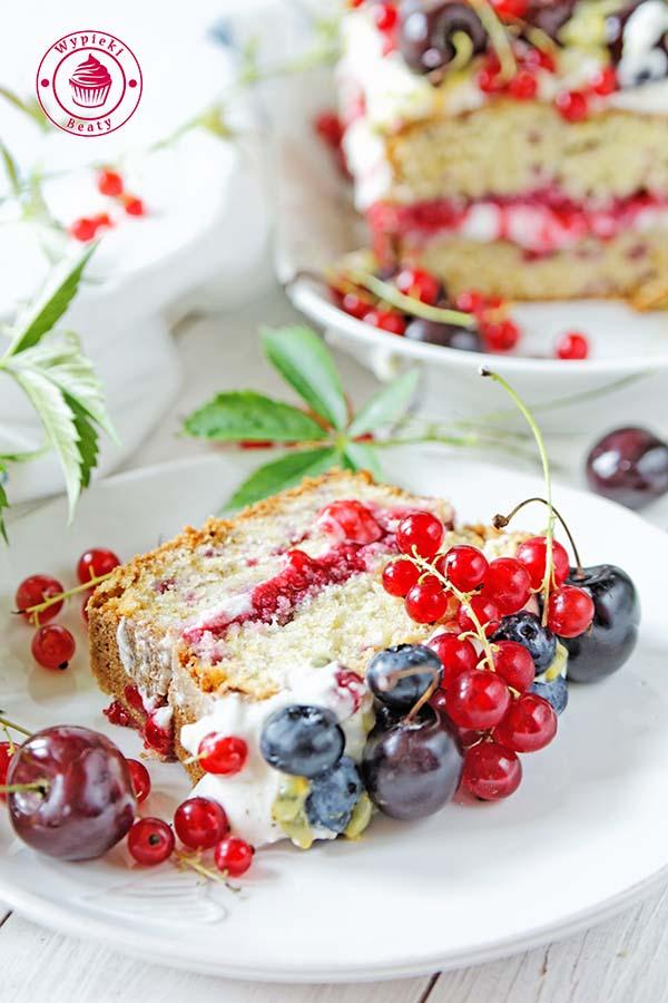 ciasto z malinami i kremem 9