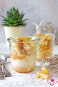 pudding z ryżu z jabłkami