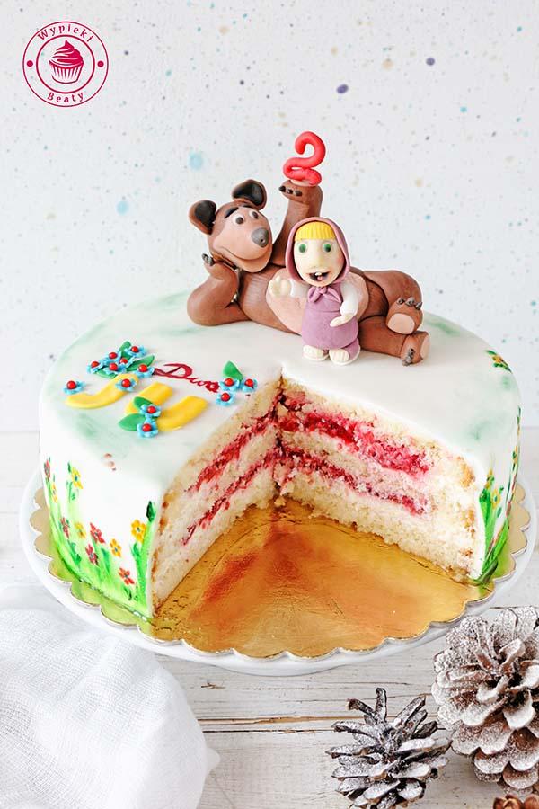 tort urodzinowy z malinami